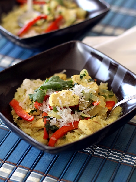 bowl of coconut chicken curry