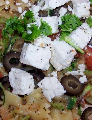 Warm Mediterranean Pasta Salad
