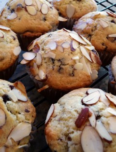 Cherry Chocolate Almond Muffins