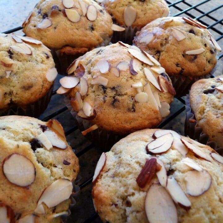 Cherry Chocolate Almond Muffins
