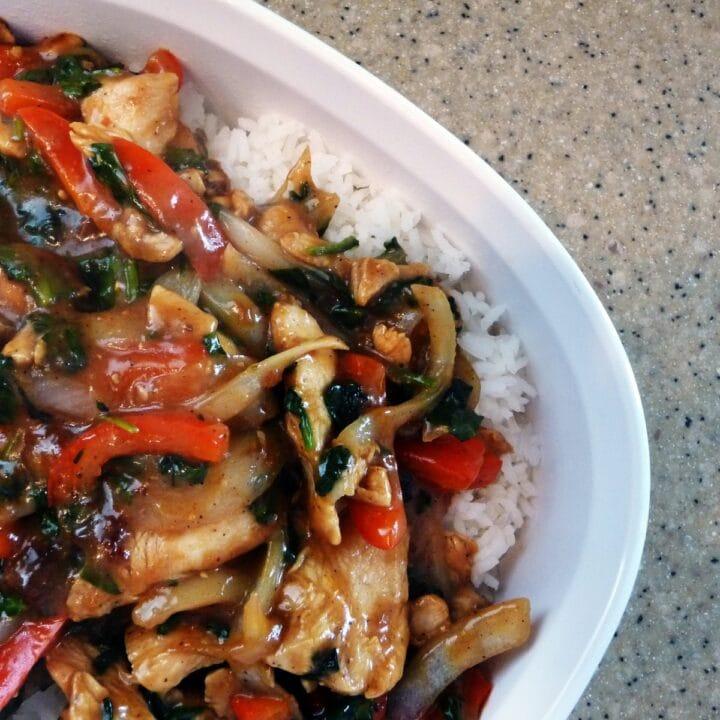 Chicken and Spinach Stir Fry