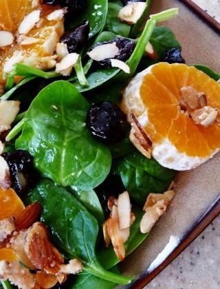 clementine spinach salad