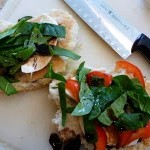 Panini with Bell Pepper, Spinach, and Mozzarella