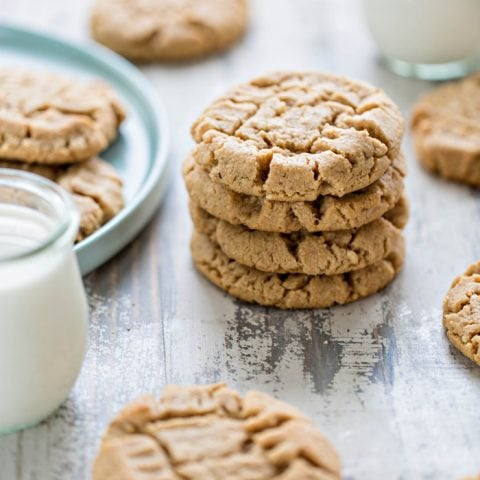 plate of cookies and glass of milk
