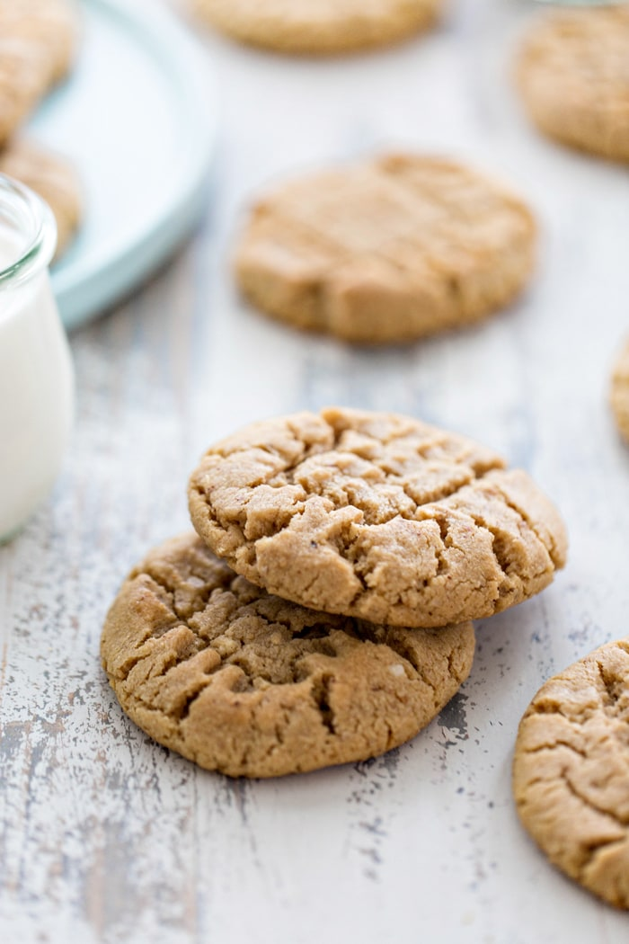 cookies on a white wooden table