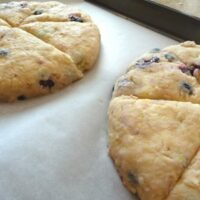 blueberry lemon scones with glaze