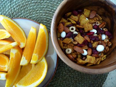 Cranberry-Orange Multi-Grain Snack Mix