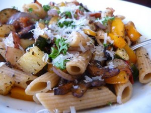 Roasted Vegetables with Pasta