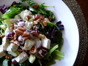 Creamy Tarragon Chicken Salad With Grapes and Pecans