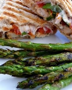 Garden Fresh Panini with Leftover Roasted Chicken