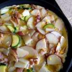 zucchini potato and bacon frittata