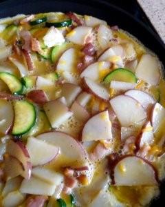 zucchini potato and bacon frittata