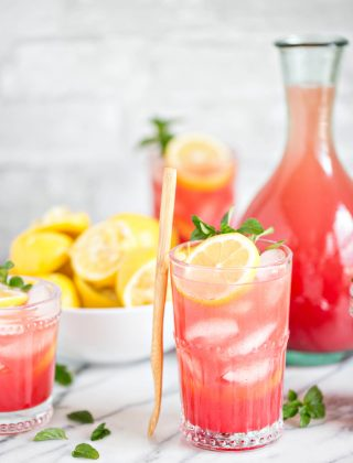Homemade Watermelon Lemonade Photo and Recipe