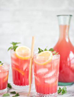 Homemade Watermelon Lemonade Recipe and Photo