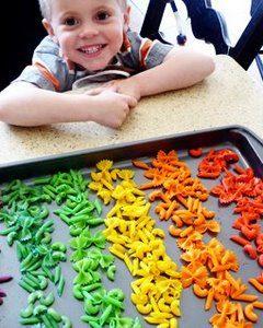 dyed pasta