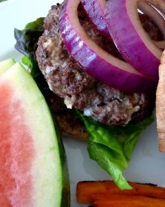 Blue Cheese Balsamic Burgers