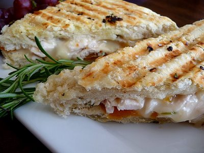 Roasted Chicken, Apricot, and Brie Panini