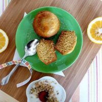 Buttermilk Olive Oil Muffins with Lemon and Honey