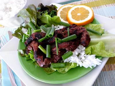 grilled korean bulgogi wraps