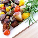 Steak, Potato, and Portobello Kebabs