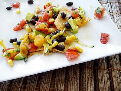 Nachos with Zucchini and Black Beans