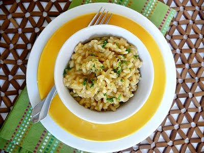 Butternut Squash Risotto | This butternut squash risotto is warm and hearty. You can serve it as the main star or use it to accompany your main meat. The squash gives it a lovely color!