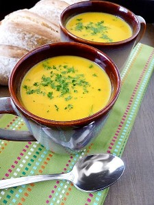Spiced Butternut Squash Apple Soup