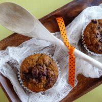 pumpkin chocolate chunk muffin