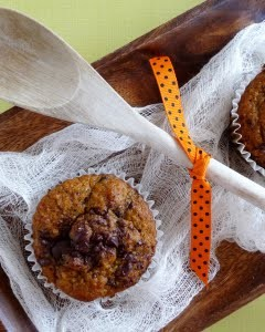 pumpkin chocolate chunk muffin