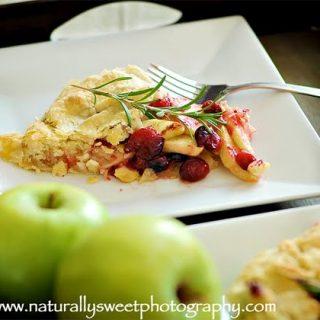Flat Cranberry Apple Pie
