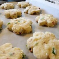 Scones with Bacon, Swiss, and Green Onion
