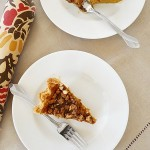 Pumpkin Pie with Caramel Pecan Topping