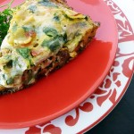 three cheese italian sausage frittata