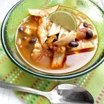 Chicken Tortilla Soup with Black Beans