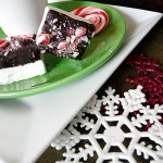 homemade chocolate dipped marshmallows with candy cane