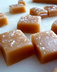 Orange Scented Salted Caramels