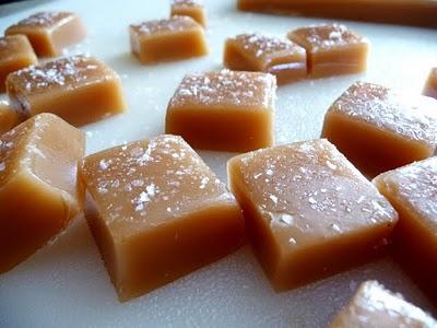 Orange Scented Salted Caramels