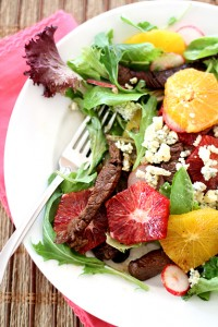 Beef Tenderloin Salad with Oranges
