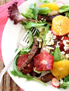 Beef Tenderloin Salad with Oranges