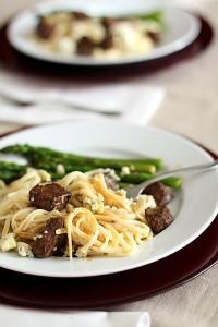 Beef Tenderloin Pasta with Gorgonzola