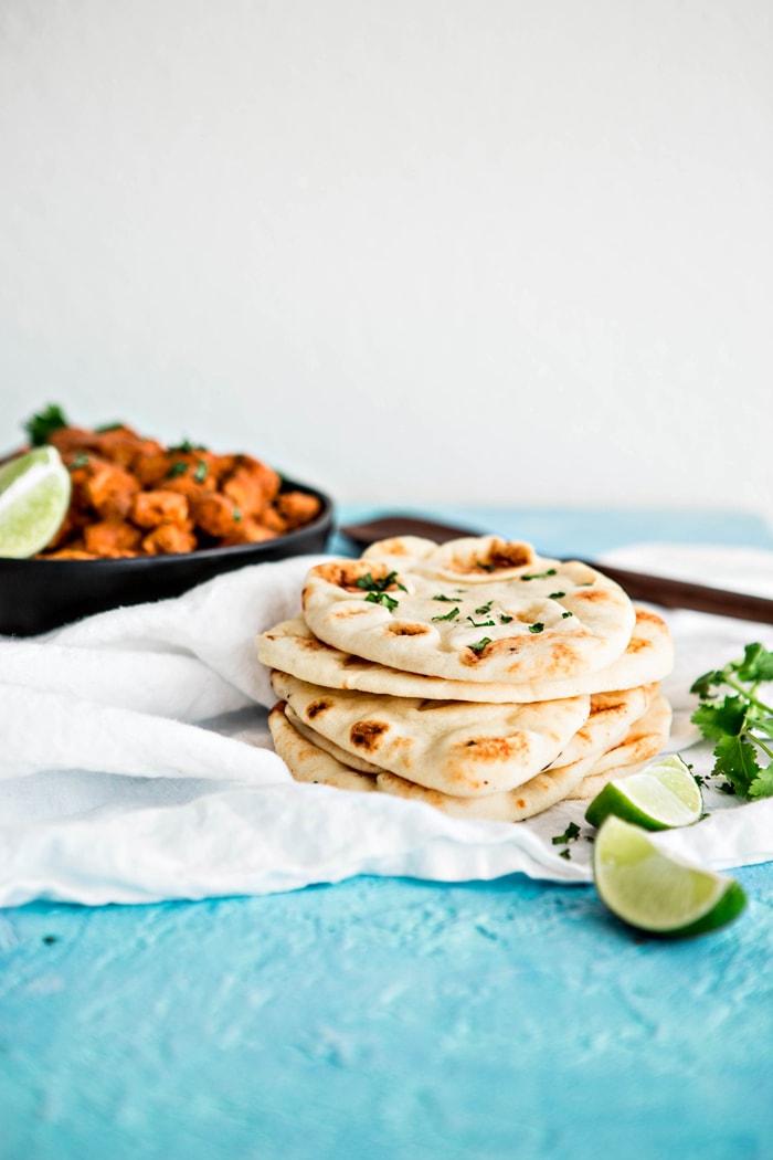 Homemade Indian Naan Flatbread photo