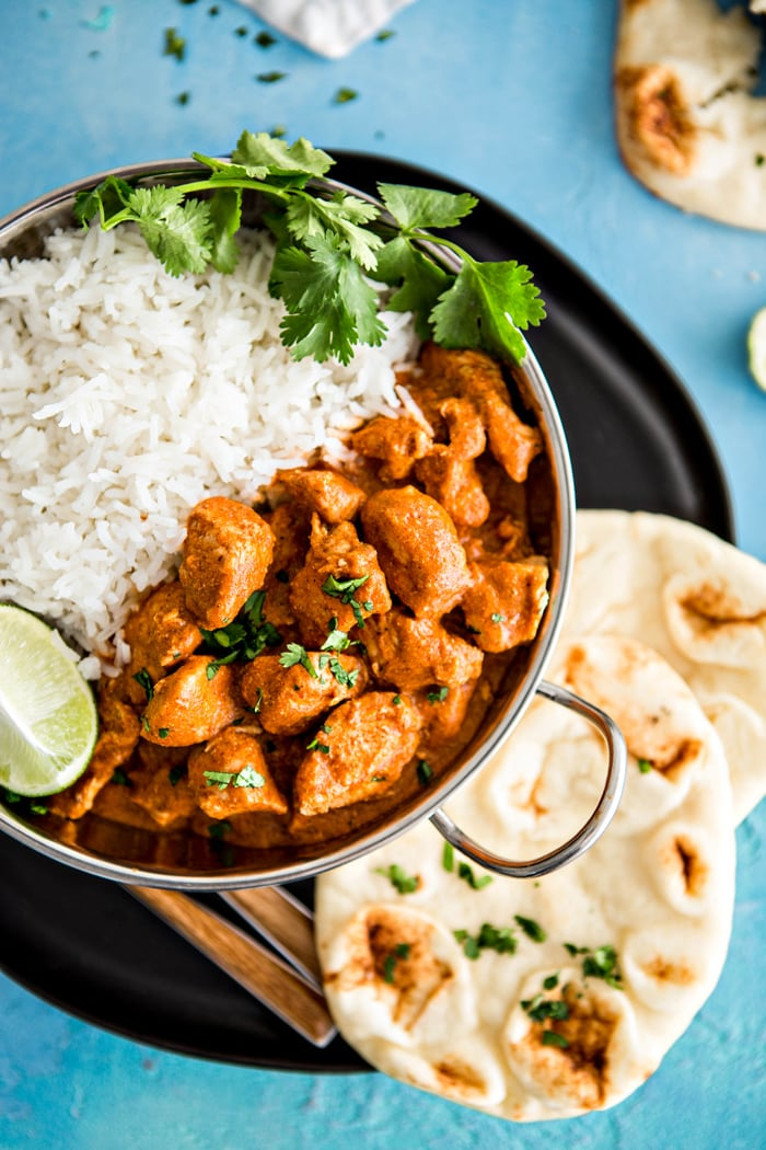 Indian Butter Chicken With Basmati Rice And Homemade Naan Good Life Eats