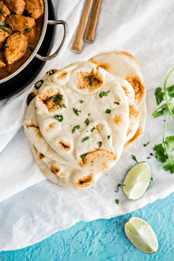 Recipe and Photo of Homemade Indian Naan Bread