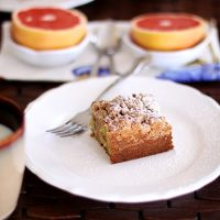 Rhubarb Crumb Coffee Cake