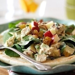 Curried Chicken Salad with Watercress and Apples