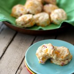 Flaky Cheddar and Ham Biscuits