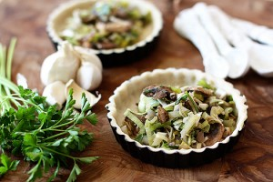 Leek and Mushroom Tart