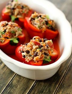 Vegetarian Quinoa Stuffed Bell Peppers