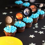 Solar System Birthday Party Cupcakes