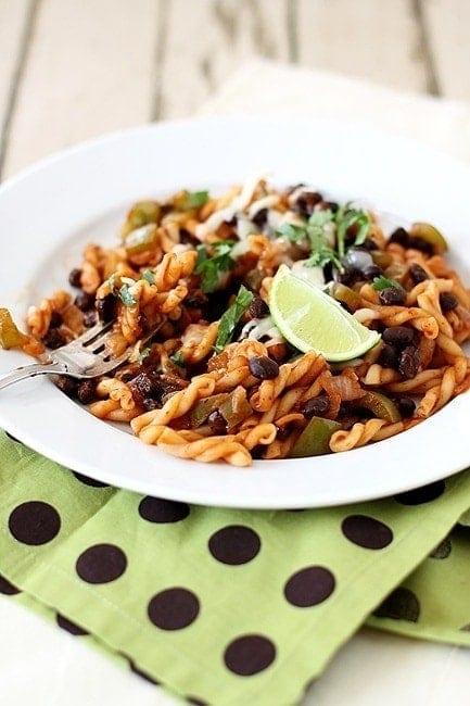 Southwestern Black Bean Pasta